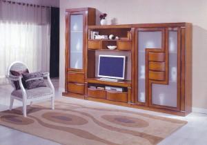 Mueble salón castaño