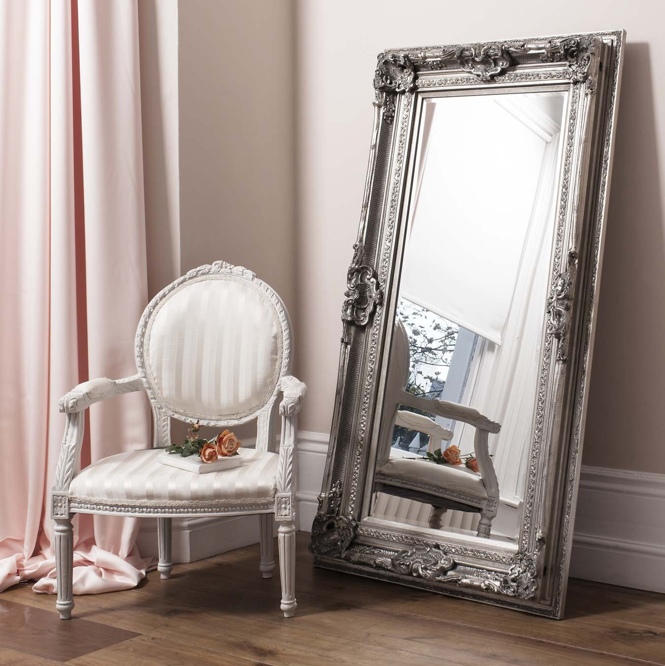 Leaning floor mirror restoration hardware